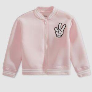 Disney pink Mickey Mouse bomber jacket